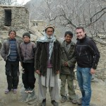 Me with Burhan's uncle and his sons at his home in Daolana