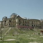 Remnants of the Darul Aman Palace on the outskirts of town
