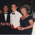 Dad and Mum ready to put pips on my epaulettes at midnight at the Graduation Ball, January 1997