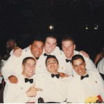 The boys at Graduation Ball, January 1997