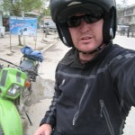 Riding around Kabul on a motorbike