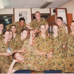 Officer Cadets in the MonUR Mess